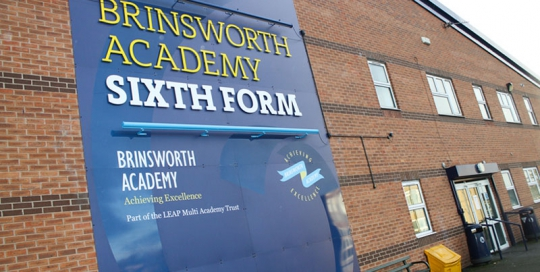 External Signage Cut Lettering Brinsworth Academy