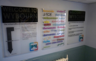 Wall Mounted Perspex Panels