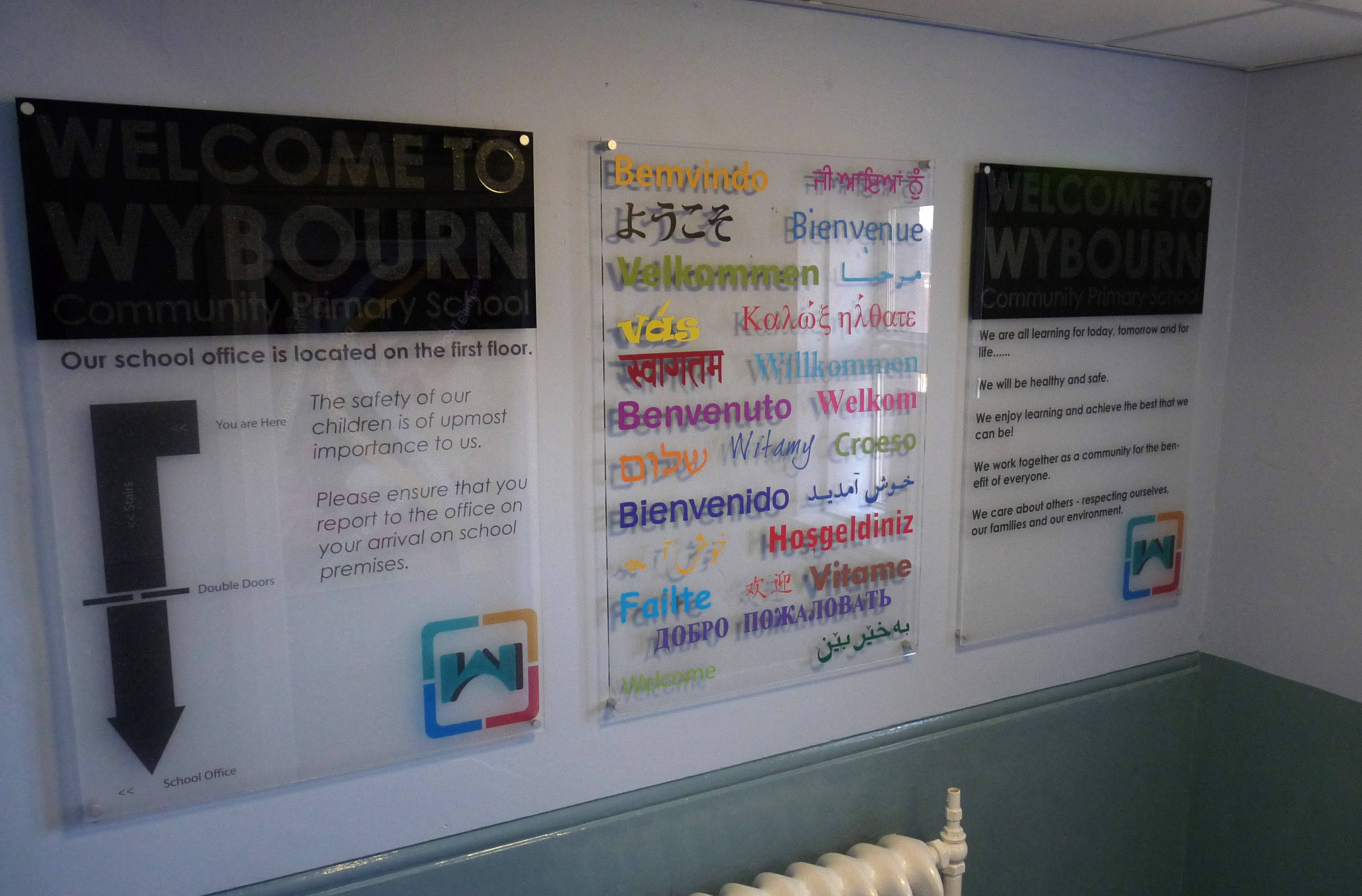 Wall Mounted Perspex Panel Signs Rainforest Graphics